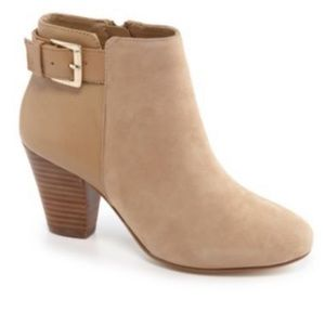 Gianni Bini buckle bootie suede and leather